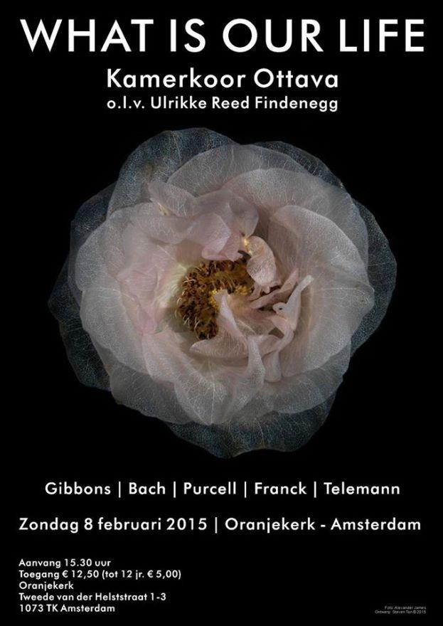 Wat stelt ons leven nou eigenlijk voor? Veel is het niet: een schaduw die voorbijglijdt (Blow), een korte komedie (Gibbons), een bloem die nog niet is opgekomen, of hij wordt afgesneden (Purcell). Gelukkig dat deze componisten hun vluchtige bestaan hebben benut voor het schrijven van muziek met eeuwigheidswaarde. Ook het werk van collega's Bach, Franck en Telemann maakt, wat Ottava betreft, maar één conclusie mogelijk: als het leven dan zo vergankelijk is, kun je maar beter zo veel mogelijk zingen.